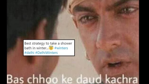 Delhiites are gearing up for the season with some hilarious memes.(Twitter)