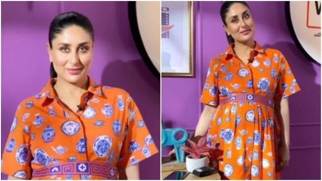 Kareena flaunts baby bump in beautiful midi dress worth Rs 15k(shop.emilylovelock.com)