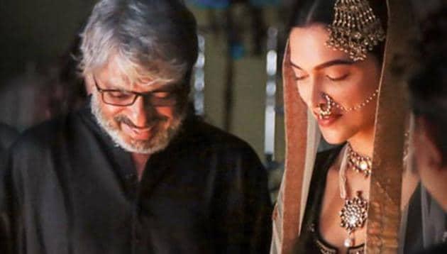 Deepika Padukone with Bajirao Mastani director Sanjay Leela Bhansali.