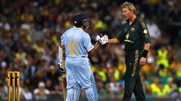 Sachin Tendulkar and Brett Lee(Getty Images)