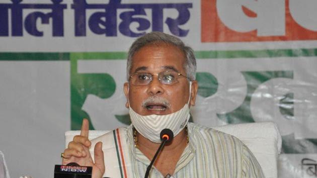 Chhattisgarh chief minister Bhupesh Baghel.(File photo)