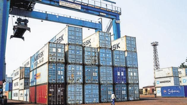 Merchandise exports last month slumped by almost 8.7% to $23.5 billion against $25.77 billion in November 2019.(Bloomberg File Photo)