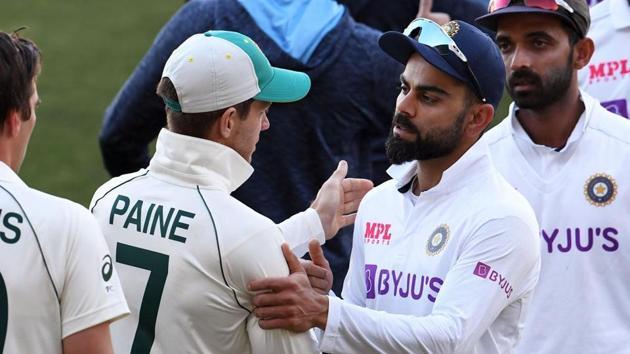 Photo of Australian captain Tim Paine (L) and Indian skipper Virat Kohli (L)(Twitter)
