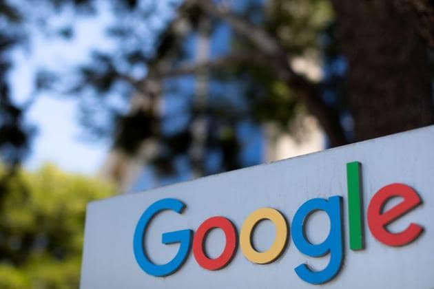 A Google sign is shown at one of the company's office complexes in Irvine, California, US.(Reuters)