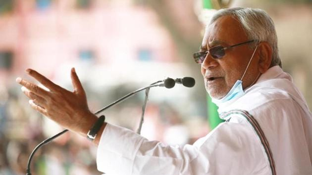 Bihar chief minister Nitish Kumar has promised free Covid 19 vaccination for residents of Bihar.(HT Photo/File)