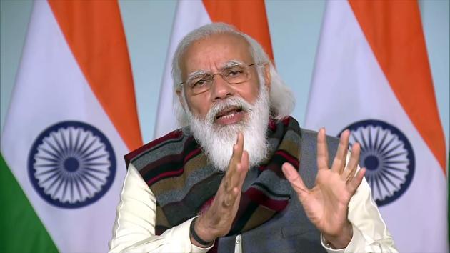 Prime Minister Narendra Modi addressed Assocham's ongoing foundation week on Saturday.(ANI)