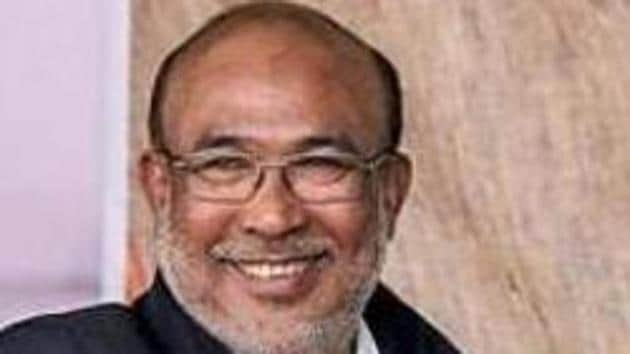 Manipur chief minister N Biren Singh was present during the launch of Emergency Response Support System in the state.(PTI Photo)