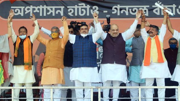 BJP had stunned the Trinamool Congress in 2019 Lok Sabha polls as it wrested 18 parliamentary constituencies in the state, coming up with its best-ever performance in the state with 42 lower house constituencies.(ANI)