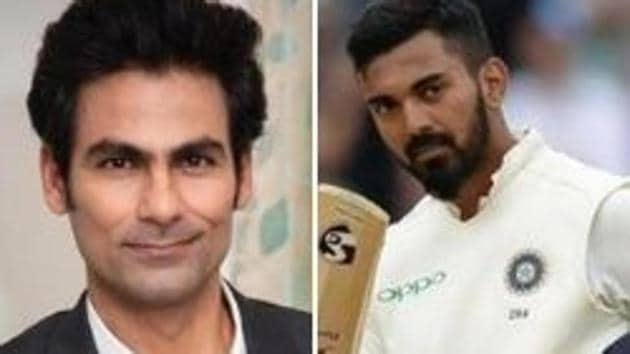 Photo of former Indian cricketer Mohammad Kaif (L) and KL Rahul (R)(HT Collage)