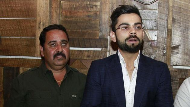 Rajkumar Sharma with Virat Kohli(Getty Images)