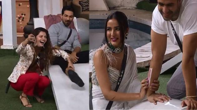 Bigg Boss 14: Rubina Dilaik and Jasmin Bhasin 'torture' Abhinav Shukla and Aly Goni.