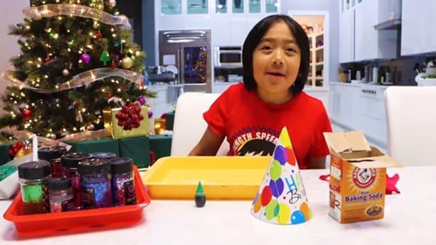The image shows 9-year-old YouTuber Ryan Kaji.(YouTube/@Ryan's World)