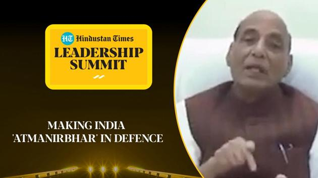 As the NDA government pursues its 'atmanirbhar bharat' (self-reliant India) mission, defence minister Rajnath Singh explained its impact on the defence industry. At the Hindustan Times Leadership Summit 2020, the senior BJP leader listed the various efforts by the government to give a fillip to domestic defence equipment manufacturers. He said that the objective of making India self-reliant in defence would not be realised in just a few years, but an important step had already been taken. Watch the full video for more.