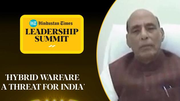 Speaking at the 18th edition of the Hindustan Times Leadership Summit, defence minister Rajnath Singh warned of hybrid warfare techniques. He said that given the plethora of weapons being used now, even events previously seen as nature's fury evoked suspicion now. He raised the issue of the Covid-19 pandemic and how it 'paralysed' the entire world. Watch the full video for more.