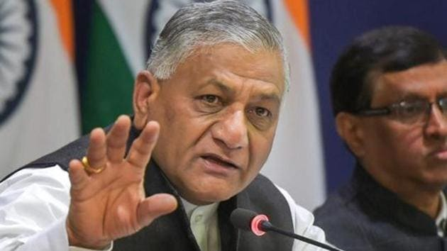 The Minister of State for Road Transport and Highways VK Singh sought to allay fears on Minimum Support Price (MSP) and other issues, saying MSP will carry on while contract farming will only benefit the farmers.(PTI)