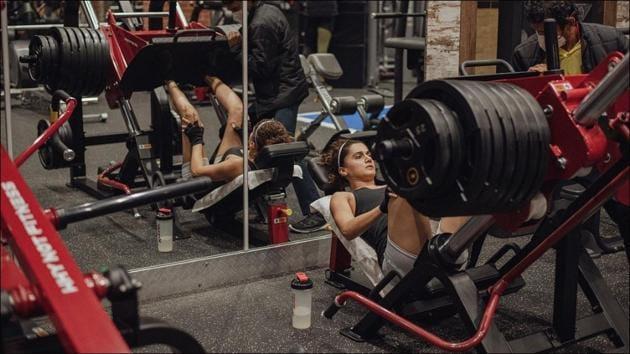 Taapsee's robust leg press session for Rashmi Rocket stuns bodybuilders(Instagram/taapsee)
