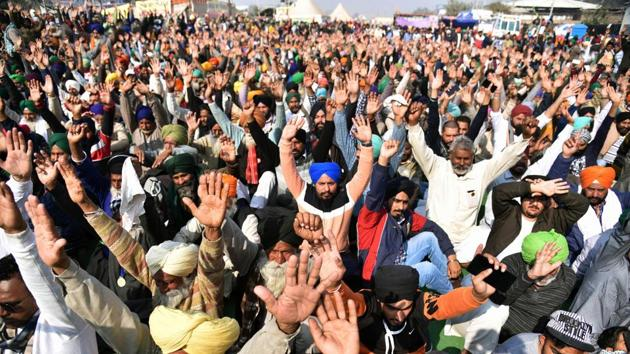 The agitation at Delhi's four key borders – Singhu, Tikri, UP Gate, and Chilla – entered into its 25th day on Sunday.(ANI Photo)