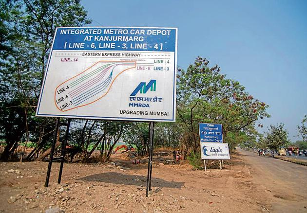 The Bombay high court had stayed the construction of the Metro-3 car shed at the Kanjurmarg site.(HT File)