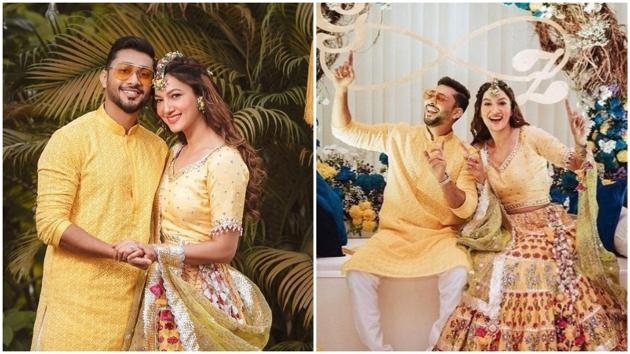 Gauahar 's yellow lehenga is one look that every bride-to-be should bookmark(Instagram/gauaharkhan)