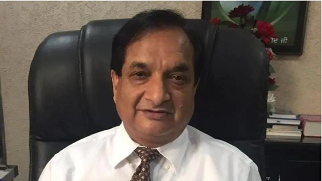 Baba Farid University of Health Sciences vice-chancellor Dr Raj Bahadur's tenure was to end on Wednesday. He has been granted a three-year extension.(HT file photo)