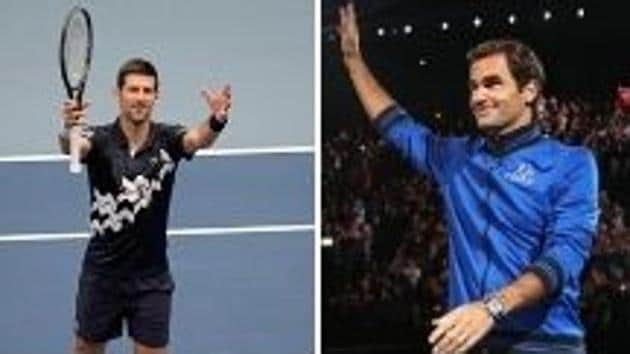 Novak Djokovic, Roger Federer, Rafael Nadal and Frances Tiafoe were among the winners of the ATP's top awards for 2020(HT Collage)