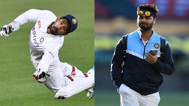 Wriddhiman Saha (L) and Rishabh Pant.(Getty Images)