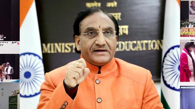 Union education minister, Dr Ramesh Pokhriyal 'Nishank'.(ANI)