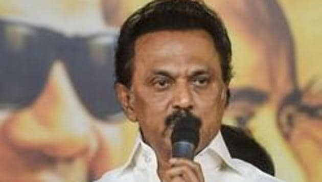 """Last week, DMK chief had called Chief Minister Palanisamy """"corruption hero"""" and also hit out at the Bharatiya Janata Party-led central government over new farm laws.(PTI)"""
