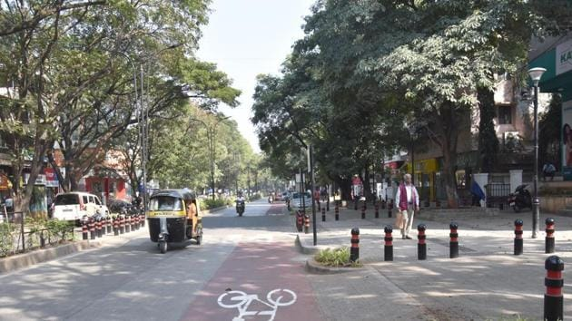 Smart city road in Aundh in Pune.(HT FILE PHOTO)