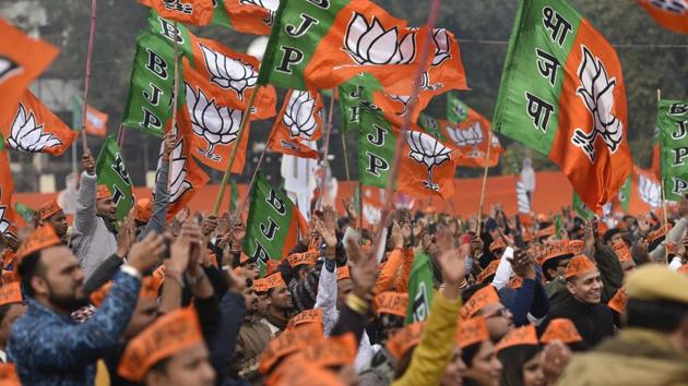 The party is putting together its biggest election machinery ever in the eastern state and as a part of it, 294 BJP leaders will be arriving in Bengal from Delhi and other states to work with the local unit for polls.(HT PHOTO.)