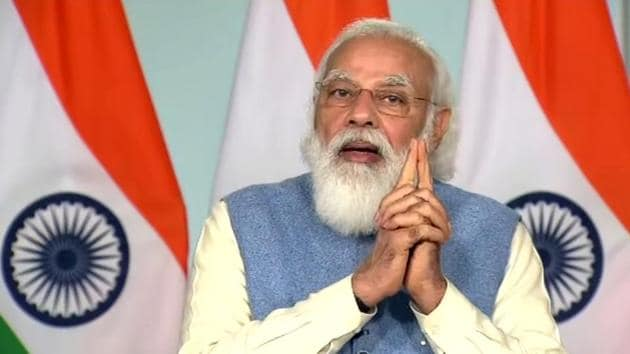 """The Prime Minister said that India needs to achieve success in the area of deep sea in the same way it has achieved success in space sector. """"In this direction, India is running the Deep Ocean Mission,"""" he added.(ANI Photo)"""