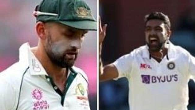 Photo of Australian spinner Nathan Lyon (L) and Indian spinner R Ashwin (R)(HT Collage)