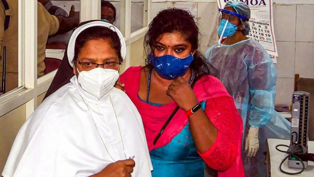 Sister Sephy, who was pronounced guilty by a CBI court in the Sister Abhaya murder case of 1992, being taken to prison after her COVID-19 test, in Thiruvananthapuram, Tuesday, Dec. 22, 2020.(PTI)