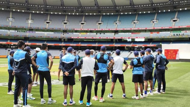 Indian team during practice session in Adelaide(BCCI/Twitter)