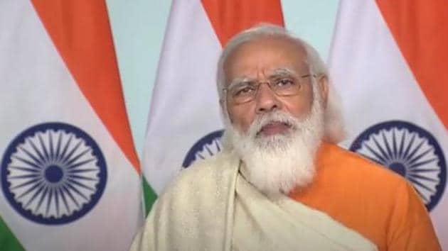 PM Narendra Modi virtually addressing centenary celebrations of Visva-Bharati University on Thursday. (Video grab)