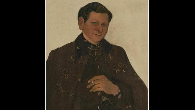 The portrait showcasing Egan, a Hungarian army doctor in his uniform, garnered noticeable traction since the theme intertwined with the artist's personal life and had emotional sentiments attached to it.(Instagram)