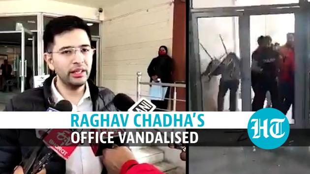 Aam Aadmi Party MLA and Delhi Jal Board Vice-Chairman Raghav Chadha alleged that his office was vandalised by goons from the BJP. The AAP leader also posted several videos of the attack on social media and said that the BJP goons warned him over his party's support to protesting farmers. He further claimed that the BJP workers admitted to attacking Manish Sisodia's house earlier and threatened more such attacks on AAP leaders if they do not toe PM Modi's line on the farm laws. Watch the full video for all the details.