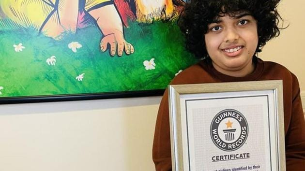 Siddhant Gumber, who hails from Haryana, was earlier recognised by the 'India Book of World Records'.(Guinness World Records)