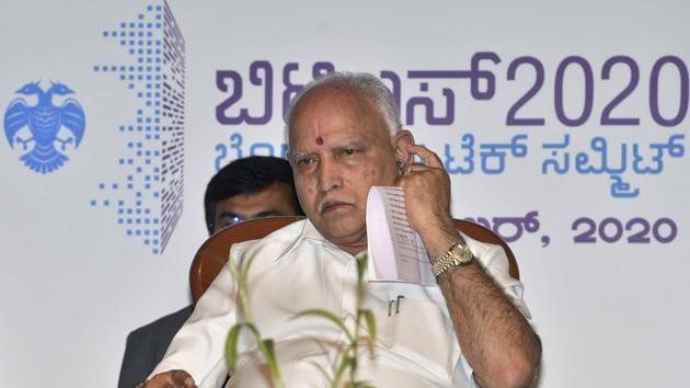 File photo of Karnataka chief minister B S Yediyurappa.(PTI Photo)