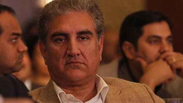 Pakistan Foreign Minister Shah Mahmood Qureshi made the comments while talking to reporters in his hometown Multan on Wednesday.(Sanjeev Verma / Hindustan Times)