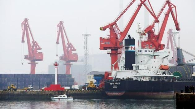 According to the ministry of external affairs, a total of 39 Indian crew members of two cargo vessels have been stranded in waters off the Chinese ports of Jingtang and Caofeidian for weeks.(Reuters | Representational image)