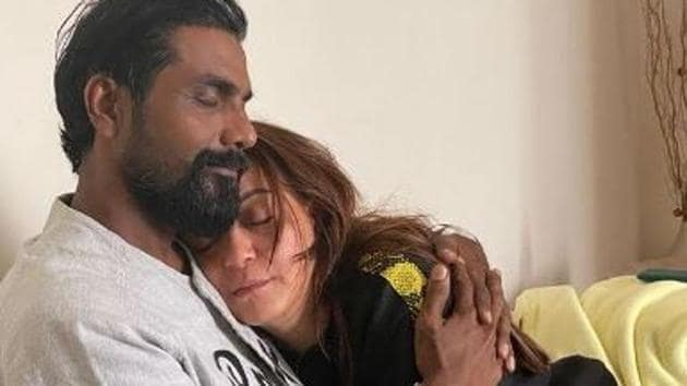 Remo D'Souza pictured with his wife.