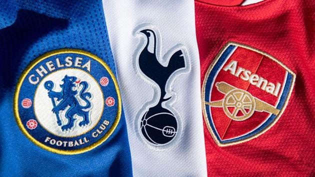 The Chelsea, Arsenal and Tottenham club badges(Getty Images)