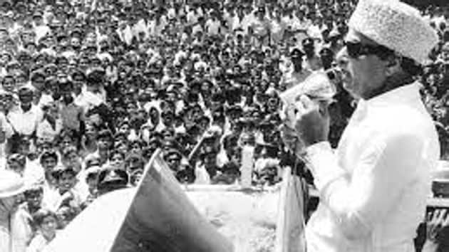 MGR formed the breakaway faction the Anna Dravida Munnetra Kazhagam (ADMK) which was later renamed as All India Anna Dravida Munnetra Kazhagam (AIADMK).(HT photo)