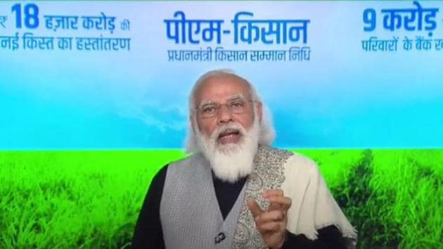 Prime Minister Narendra Modi on Friday attacked opposition parties for misleading farmers. (Videograb)