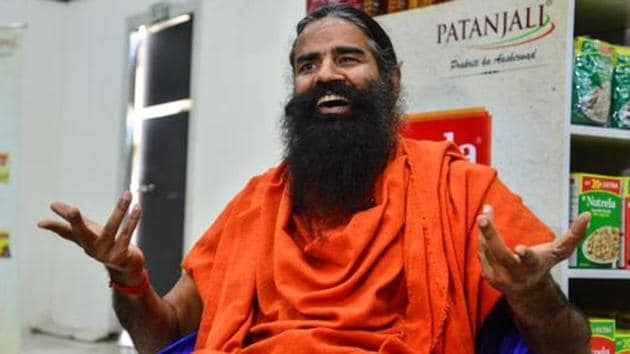 New Delhi: Yoga Guru Baba Ramdev said that there was a need to increase farm output and farmers income.(Courtesy-Mint Photo)