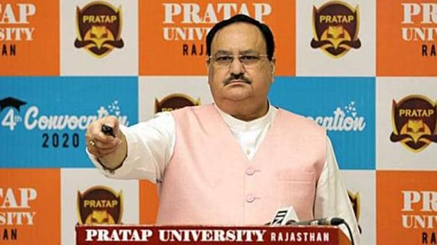 BJP president JP Nadda congratulated the 9 crore farmers for getting the second installment under the scheme directly in their bank accounts.(ANI PHOTO.)