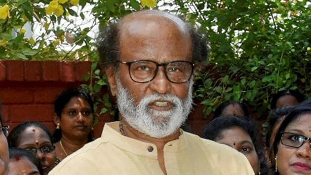 Veteran actor Rajinikanth had been shooting in Hyderabad for almost ten days for his upcoming film 'Annathe' but it was suspended on December 23 after four crew members tested positive for Covid-19 during a routine test on the film sets.(PTI PHOTO.)