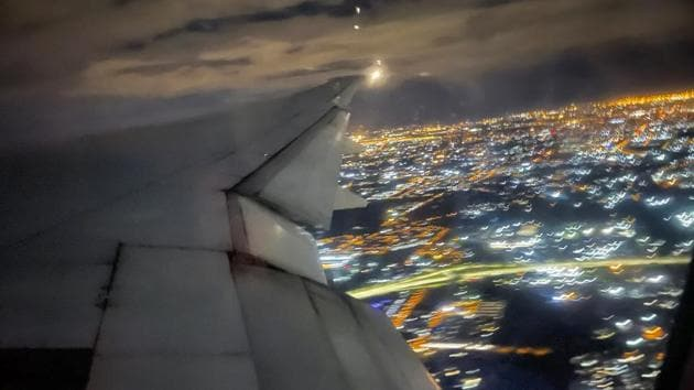 An Air France flight bound for Paris, France, takes off from Johannesburg on December 21. Ten hours later, after a smooth flight over the African continent in the dark of night, the 15-year-old Boeing 777 touched down in a typical winter mist at Paris' Charles De Gaulle airport. (Jerome Delay / AP)