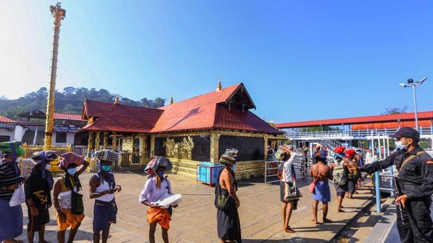 The Travancore Devaswom Board said the RT-PCR test certificate, taken not more than 48 hours prior to their visit to the temple, is must for pilgrims from December 26.(PTI)